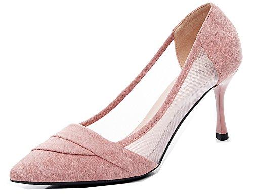heel Femme Escarpins Cheville Kitten Belle Sandales Mariage Rose Profonde Aisun Peu tF4qfxq6