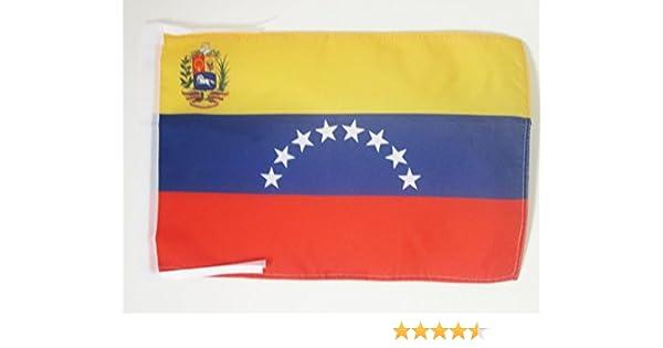 AZ FLAG Bandera de Venezuela 45x30cm - BANDERINA VENEZUELANA 30 x 45 cm cordeles: Amazon.es: Hogar