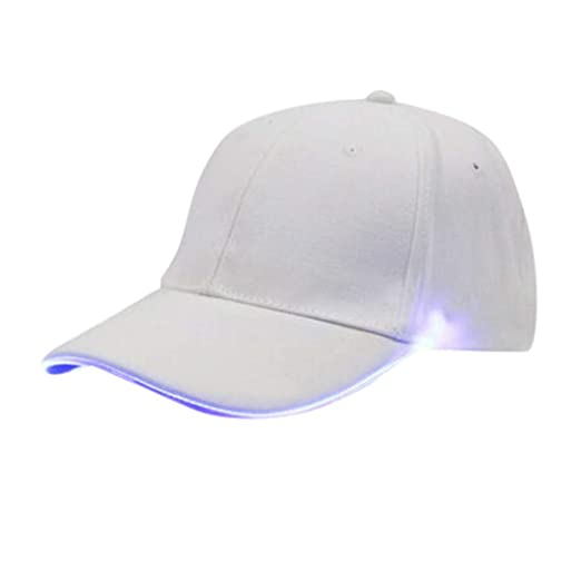 Amazon.com: TIANMI Unisex Hat Couple Hat LED Light Baseball ...