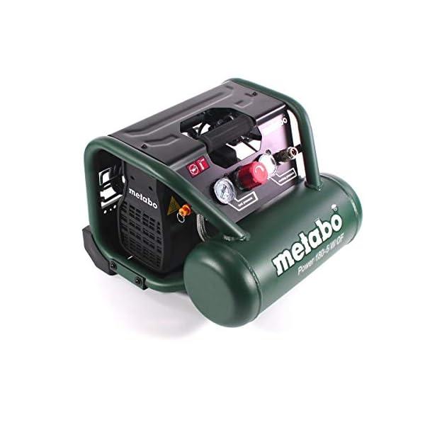 Metabo 601531000 601531000-Compresor Power 180-5 W of Potencia 1,1/1,5 (Kw/CV), Negro