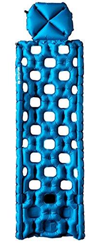 Klymit Inertia O Zone Ultralight Sleeping Pad with Pillow, Blue/Gray