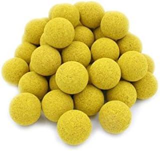 CAAA - Pelotas de futbolín amarillas de corcho, 50 unidades: Amazon.es: Deportes y aire libre