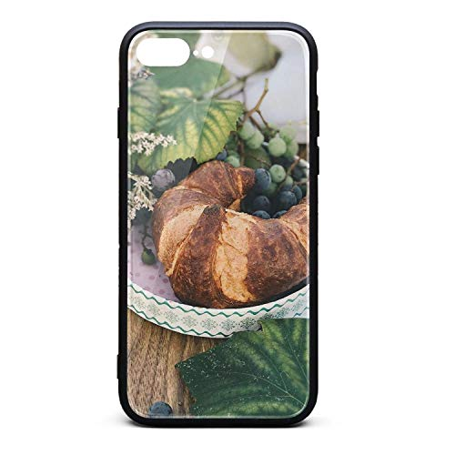 - Nisen A Plate of Bread and Grapes iPhone Case for iPhone 7/8 Plus Design for Girls Men Women TPU Frame Protective for Men Women Cover Shockproof Bumper Anti-Drop PC Frame for 5.5