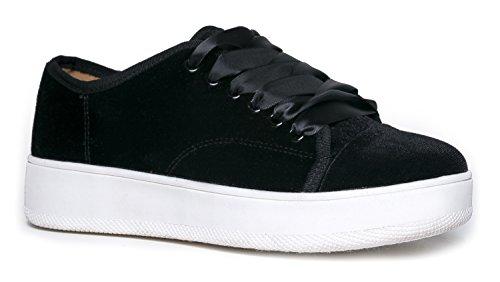 Velvet Platform Sneaker iVAfR