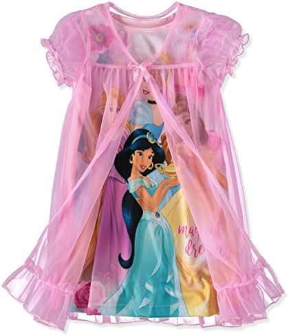 Disney Girls' Toddler Multi-Princess Nightgown with Peignoir