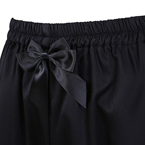 Sottoveste Cotone Bow Bloomers Lolita antaina Volant Pants Intima Zucca Mutande Nero Pants Pizzo Pumpkin Gotico Biancheria 5CXwnOwq