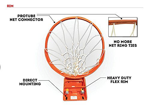 amazon com ryval wm60 basketball hoop 60 tempered glass rh amazon com lifetime basketball hoop diagram