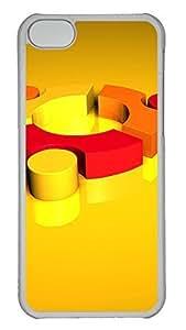 TYHde iPhone 5C Case 3D Yellow Orange PC iPhone 5C Case Cover Transparent ending
