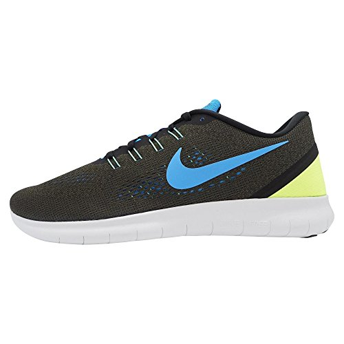 Nike Free Rn Cargo Khaki / Zwart / Volt / Blauwe Gloed Loopschoenen