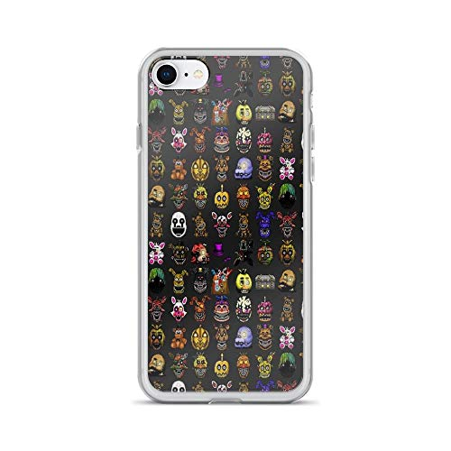 iPhone 7 Case iPhone 8 Case Clear Anti-Scratch Five Nights at Freddy's - Pixel Art - Multiple Characters New Set, Freddy Cover Phone Cases for iPhone 7/iPhone 8, Crystal Clear