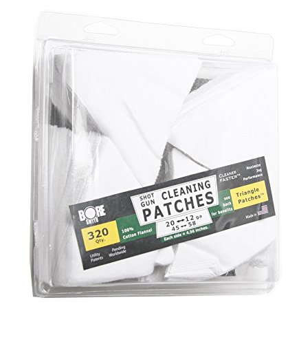 BoreSmith Triangle Patches, Shotgun, Premium Gun Cleaning Patches, clamshell by BoreSmith