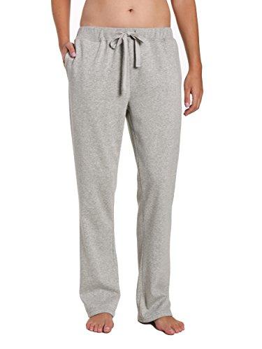 Noble Mount Womens Towel Brushed Sweatpants - Heather Grey - Large