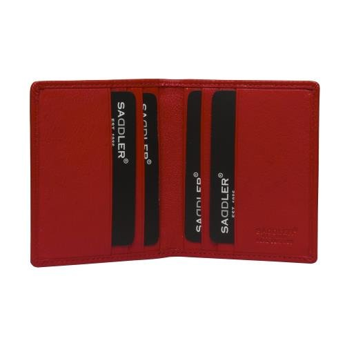 SADDLER Fuschia Bi-fold 6 Slot Credit Card Holder SADDL-2030-FUCH