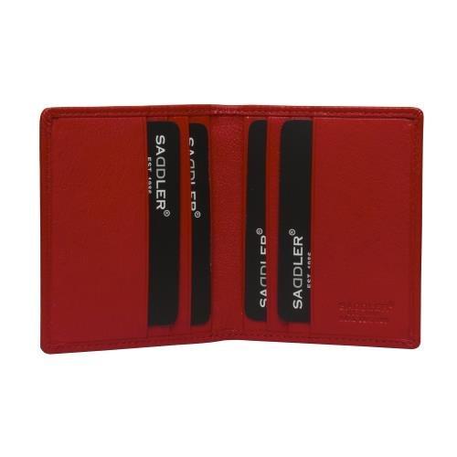 SADDLER Soft Nappa Leather 6 Credit Card Bifold Wallet - Electric Blue SADDL-2030-EBLU