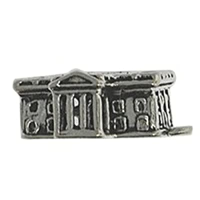 Sterling Silver Bracelet With 3D Washington DC Presidential United States White House Tour Charm