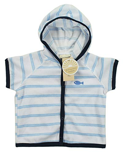 (First Impressions Infant Boys Striped Terry Hooded Cover UP Swimwear)