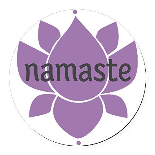 CafePress - Namaste - Round Car Magnet, Magnetic Bumper Sticker (Namaste Magnet)