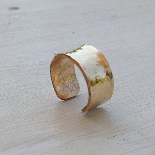 Ear cuff earring for non pierced ears gold filed 14k for women Adjustable