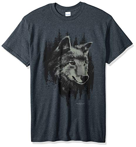 Lost Creek Men's Wolf Series Short Sleeve T-Shirt, Dark Heather, ()