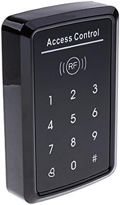 perfk Teclado de Puerta Teclado de Control de Acceso de Puerta Lector de Tarjetas de RFID Soporte 1000 Usuarios DC12V: Amazon.es: Bricolaje y herramientas
