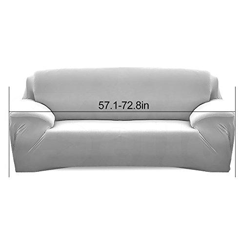 WATTA Brown Loveseat 2 Seater Stretch Elastic Polyester Spandex Slipcover