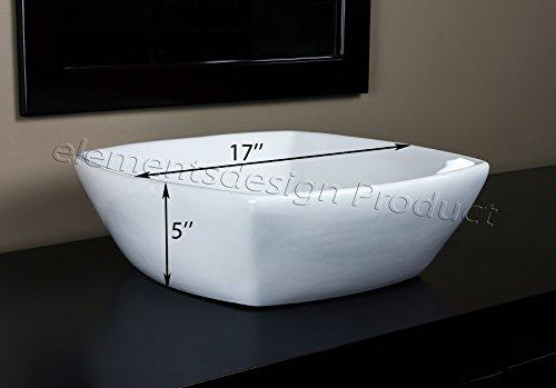 Bathroom Ceramic Porcelain Vessel Sink CV7068N1 Nickel Faucet Drain