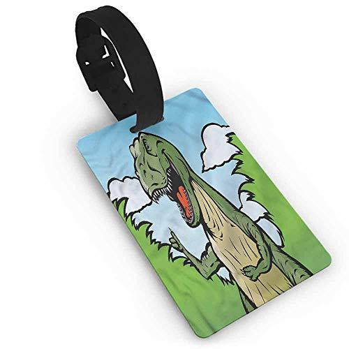 - Baggage Tag Dinosaur,Cartoon T-Rex Funny One Size Label Tag Address Holder