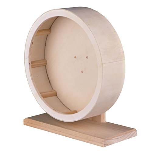 Niteangel Wooden Exercise Wheel for Hamster (Large Diameter 11-3/8-inch)