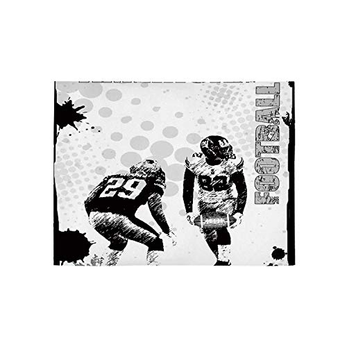 (Sports Utility Area Rug,Grungy American Football Image International Team World Cup Kick Play Speed Victory for Home,120