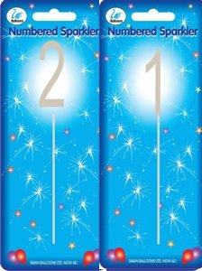 Sparkler Sparkling Number Birthday Cake Candles Age Aged 21 By Character