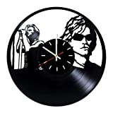 Everyday Arts Bon Jovi American Rock Band Design Vinyl Record Wall Clock - Get Unique Bedroom or Garage Wall Decor - Gift Ideas for Friends, Brother - Darth Vader Unique Modern Art