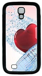 Heart Custom Samsung Galaxy I9500/S4 Case Cover TPU Black