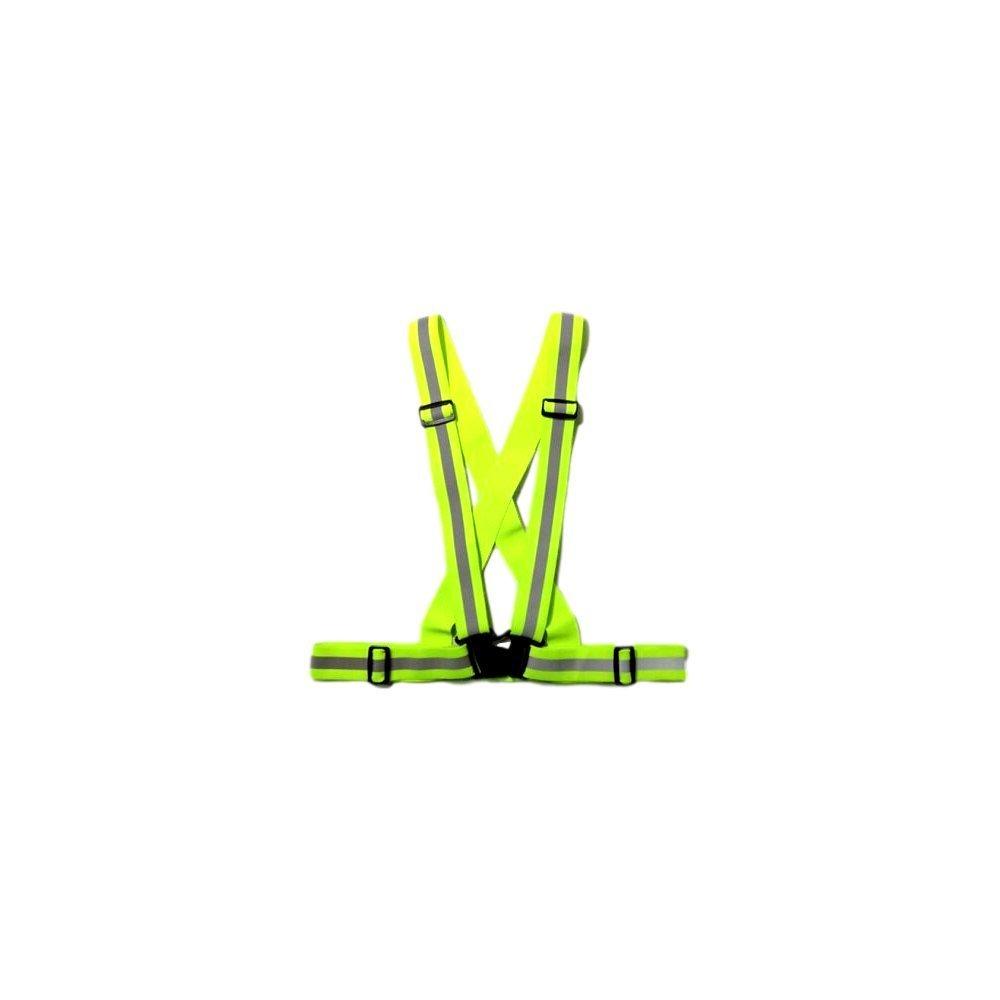 EKNA Warnweste | Sicherheitsweste | Unfallweste | Leuchtgurt | Reflektorweste | Reflexgurt | reflektierend, einstellbar in blau, gelb, orange, pink (Gelb)