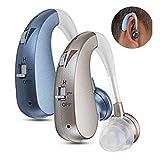 One-Stop Store Digital Premium Hearing Amplifier Volume Controlable Feedback Canceling for Men Women PSAP (Blue)
