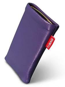 Beat Lilac fitBAG-Funda con pestaña para Sony Ericsson W200 W200i. piel de napa de calidad superior con forro de microfibra para limpieza de pantalla