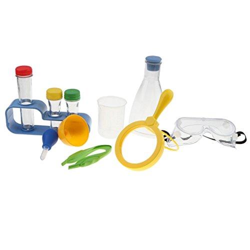 Kit Labware (Baoblaze 11pcs Kid Little Scientist Chemistry Lab Labware Kits Toy - Children Beaker Flask Tube Dropper Set Role Pretend Plays Learning Developmental School Teaching Aids)