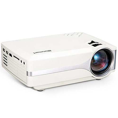 Projector, Blusmart LED-9400 Mini Portable Home Video Projector 150'' Projector Native:800*480 Pixel Full HD Multimedia Home Theater for Home Cinema, TV, Laptops, Games and iPhone/Android (Mobile Overhead Projector Table)