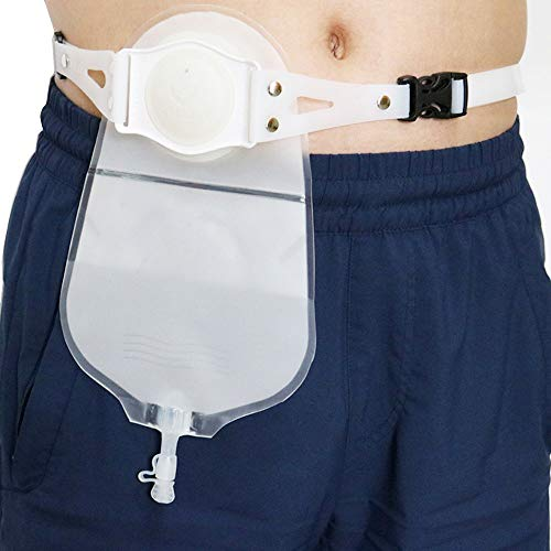 Tipo De Cinturón Bolsillo De Ostomía Urinaria, No Es Necesario Pegar Tipo De Baño Bolsa Con Cierre Para Colostomía...