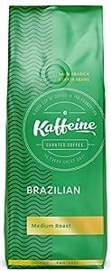 Kaffeine Koffee Organic Brazillian Bourbon Santos Medium Roast Ground Coffee