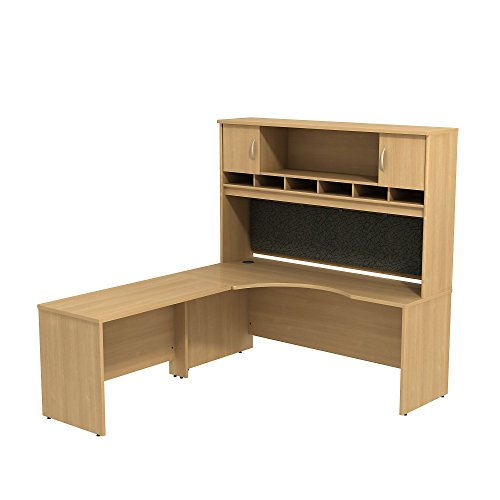 Bush Business Furniture Series C 72W LH Corner L-Desk with 72W 2-Door Hutch For Sale