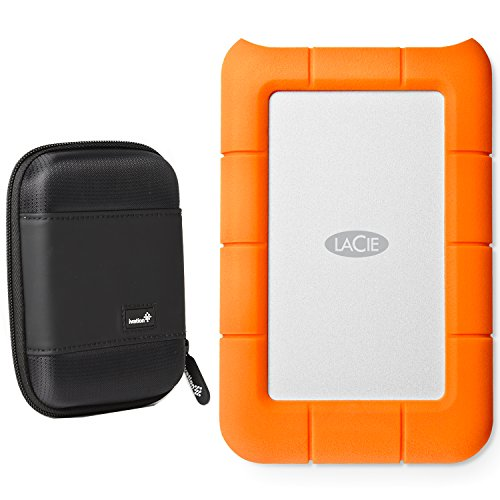 - LaCie Rugged Thunderbolt & USB 3.0 2TB 9000489 / STEV2000400 with Ivation Compact Portable Hard Drive Case