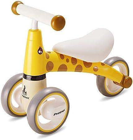 YXZQ Infant Mini Balance Bike - Bicicleta de bebé para Regalo de cumpleaños, para niños de 1 año de Edad, Juguetes Seguros para Montar, Amarillo: Amazon.es: Hogar