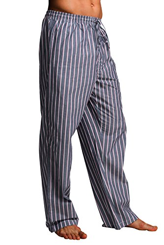 CYZ Men's 100% Cotton Poplin Pajama Lounge Sleep Pant-F1706-XL