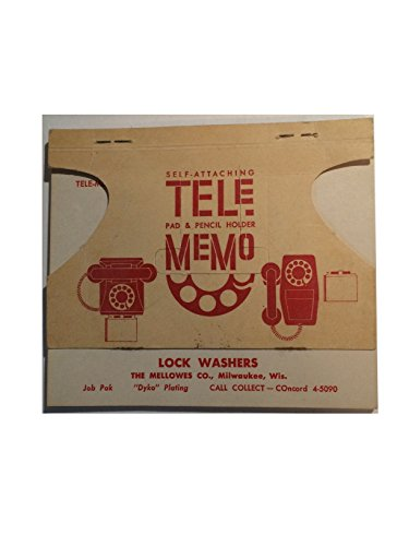 - Paper Ephemera, Vintage Advertising Pictorial Memo Pad