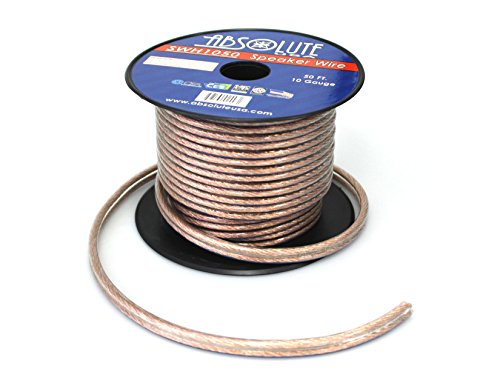 Absolute USA SWH1050 10 Gauge Car Home Audio Speaker Wire Cable Spool 50' by Absolute (Image #1)