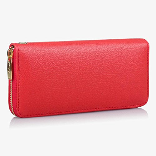 Purse DBHAWK Long C Handbag Leather Fashion Card Holder PU Clutch Phone Women Wallet Bag Lady Red Bag 44qpRwAgz