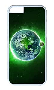 MOKSHOP Adorable Green Dream Space Hard Case Protective Shell Cell Phone Cover For Apple Iphone 6 (4.7 Inch) - PC White