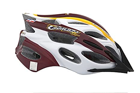 04d11eaeee4eb Amazon.com : Lucky Explorers NBA Cleveland Cavaliers Adult Cycling Helmet,  Wine/Gold/Navy Blue/White, Large : Sports & Outdoors
