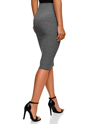 Femme 2529s Taille Ultra Jupe lastique C tes oodji Gris 5CqwpAA