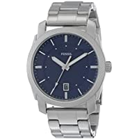 Fossil Machine Blue Dial Stainless Steel Men's Watch